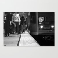San Francisco Muni In Bl… Canvas Print