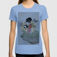 skull kids Womens Fitted Tee Athletic Blue SMALL