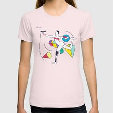Grace Jones Womens Fitted Tee Light Pink SMALL