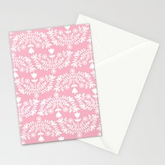 Folk Pattern Pink Stationery Cards