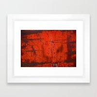 Red Roof Hatch Framed Art Print