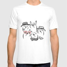 french bulldog Mens Fitted Tee SMALL White