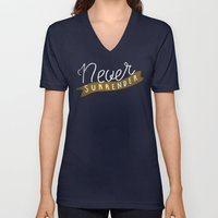 Never Surrender Unisex V-Neck
