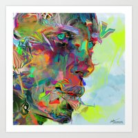 Iris Drops Art Print