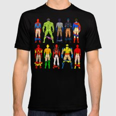 Superhero Butts Mens Fitted Tee Black SMALL