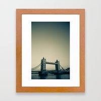 Tower Bridge at dusk Framed Art Print