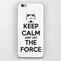 Keep Calm and use the Force iPhone & iPod Skin