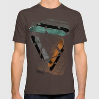 Skatestriangles Mens Fitted Tee Brown SMALL