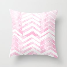 Pretty in Pink Chevron Throw Pillow