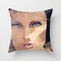 Beautiful Face Throw Pillow