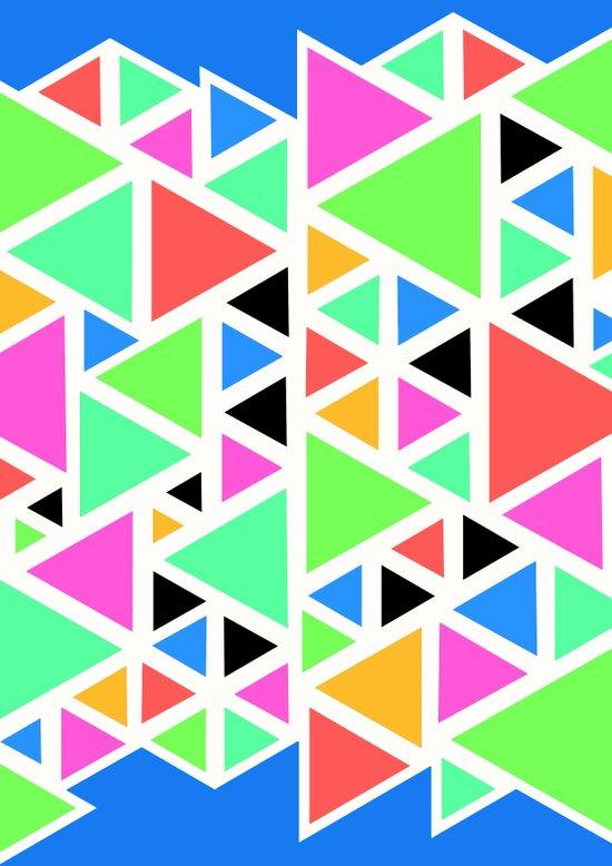 Triangular pattern. Art Print