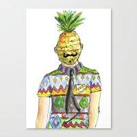 Mr. Pineapple Canvas Print