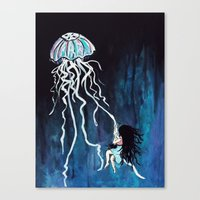 fall down, never get back up again Canvas Print