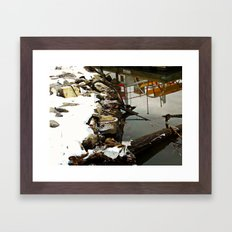 Frosted Reflection Framed Art Print