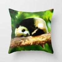 Baby Panda Resting - Pai… Throw Pillow
