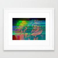 QUEENS GLITCH Framed Art Print