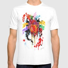 Bleed Creation Mens Fitted Tee White SMALL