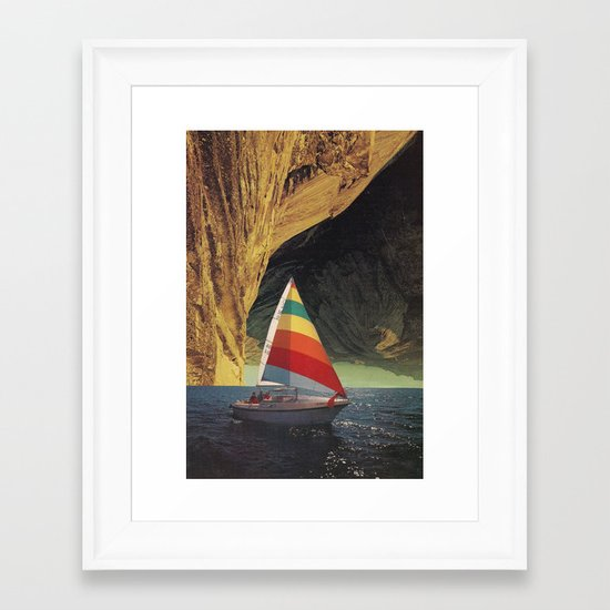 On Holiday Framed Art Print