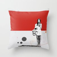 June | Collage Throw Pillow