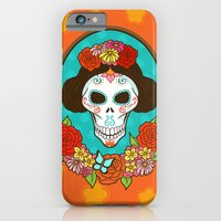iPhone & iPod Case featuring Day of the Dead Beauty by SL Scheibe