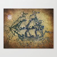 The Great Sky Ship Canvas Print