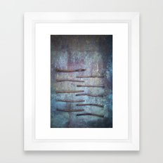 Ten Nails Framed Art Print