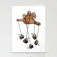 The Five Dancing Skulls Of Doom Stationery Cards