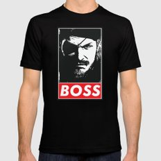 Big Boss - Metal Gear Solid SMALL Mens Fitted Tee Black