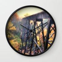 Upper Peninsula Train Trestle Wall Clock