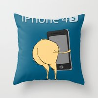 iPhone 4 S : For Ass Throw Pillow