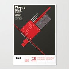 Floppy Disk Canvas Print