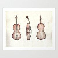 Cello Art Print