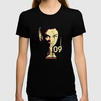 Fashion Woman Womens Fitted Tee Black SMALL