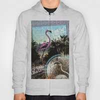 Palm trees and flamingos Hoody