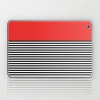 STRIPE COLORBLOCK {POPPY RED} Laptop & iPad Skin
