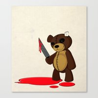 Psycho Teddy Canvas Print