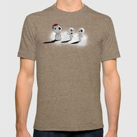 Snowdama Mens Fitted Tee Tri-Coffee SMALL