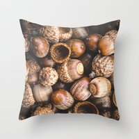 Squirrel Harvest Throw Pillow