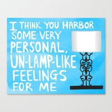 mindy project un-lamp-like feelings quote Canvas Print