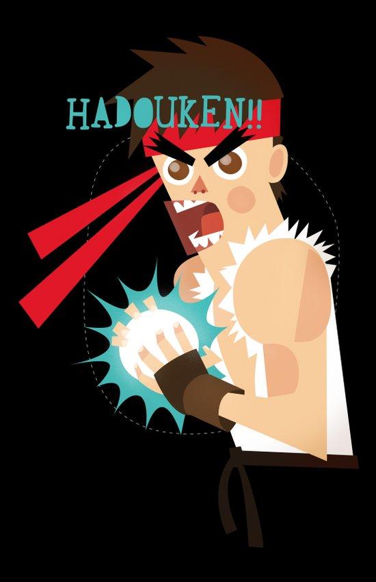 Hadouken! Art Print