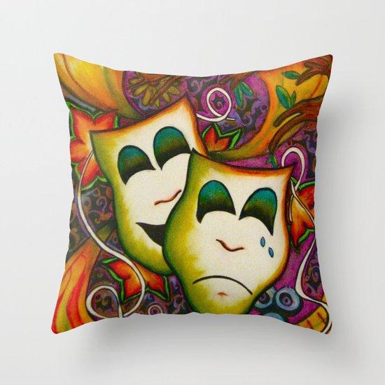 Masks (Theatre) Throw Pillow