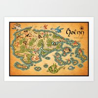 Hoenn Map Art Print