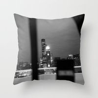 From The Back Of A Cab Throw Pillow