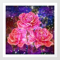 Roses With Sparkles And … Art Print