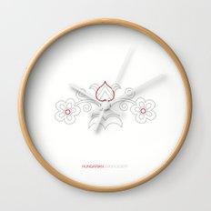 Hungarian Embroidery no.7 Wall Clock