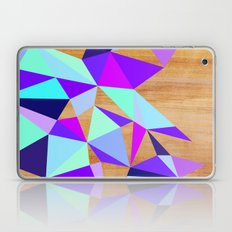 Wooden Geo Purple Laptop & iPad Skin