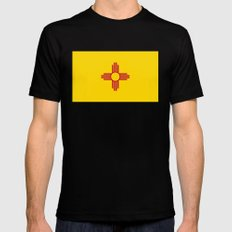 State flag of New Mexico - Authentic version Mens Fitted Tee Black SMALL