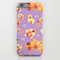 iPhone & iPod Case featuring Orchids & Ladybirds by Amanda Jonson
