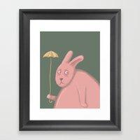 Sad Bunny  Framed Art Print