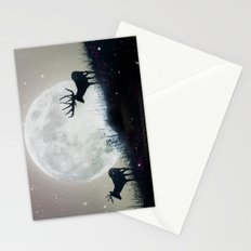 blue moon rising Stationery Cards